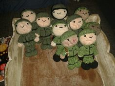 10 little soldiers handmade by me!