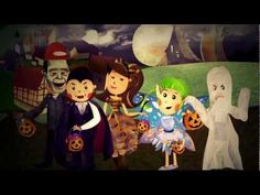 Princess Katie & Racer Steve Halloween Cartoon Song For Kids Children...the BEST Halloween song I have heard in a long time!