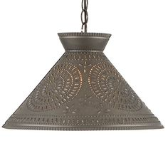Perfect for hanging over a kitchen island, dining room table, or anywhere you need direct lighting, our selection pendant lighting and punched tin shade lights are sure to complement any decor. Primitive Lighting, Farmhouse Lighting, Kitchen Lighting, Island Pendant Lights, Pendant Lighting, Primitive Kitchen, Primitive Country, Country Kitchen, Country Living