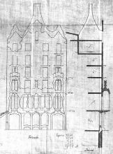 Original Facade  Drawing of Casa Batlló by Antoni Gaudí 1904