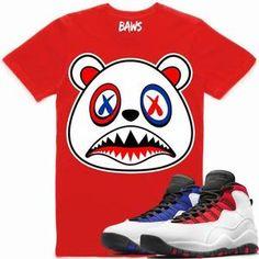 a7d1f4f926e Baws T-Shirt USA BAWS Red Sneaker Tees Shirt - Jordan 10 Westbrook  Westbrook Shoes