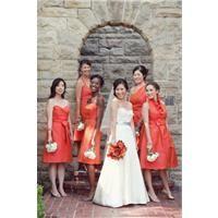 Four different bridesmaids. Four dresses to suit...