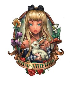Image result for follow the white rabbit tattoo