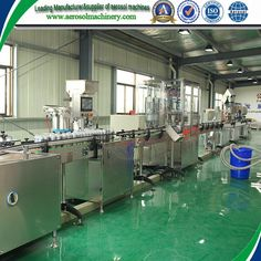 semiautomatic aerosol filling line     More: https://www.aerosolmachinery.com/sale/semiautomatic-aerosol-filling-line-2.html
