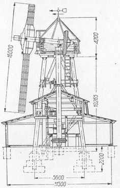 This design is very durable and reinforced compared to my other blueprints this one will work much better compared to the others. Windmill Diy, Farm Windmill, Holland Windmills, Old Windmills, Windmill Drawing, Wooden Toy Trucks, Wooden Gears, Farm Plans, Water Mill
