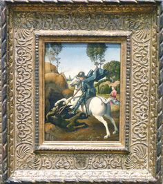 Raphael, St. George and the Dragon, 1506, National Gallery of Art | Flickr - Photo Sharing!