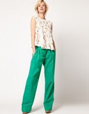 See by Chloe Cotton Wide Leg Pants