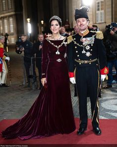 Queen Margrethe joined by Crown Prince Frederik, Crown Princess Mary, Prince Joachim and Princess Marie hosted the first New Year's Reception and Banquet. Princess Marie Of Denmark, Princess Estelle, Princess Charlene, Princess Madeleine, Crown Princess Mary, Princess Stephanie, Crown Princess Victoria, Royal Jewels, Crown Jewels