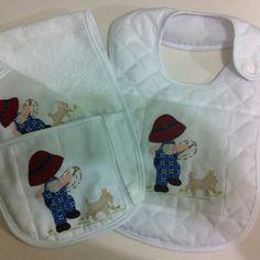 kit de babador para bebê. lia bordados.