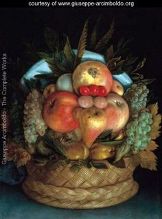 Giuseppe Arcimboldo (Italian: also spelled Arcimboldi) or 1527 – July was an artist of Milan. Like his father, Giuseppe Arcimboldo started his career as a designer for stained glass and frescoes at local cathedrals when he was 21 years old. Giuseppe Arcimboldo, Caravaggio, Pieter Brueghel El Viejo, Arte Online, Renaissance Artists, Photo Images, Italian Painters, Illusion Art, Eye Art