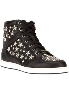 the_crusher2230's save of Jimmy Choo 'Tokyo' Studded Hi-Top Sneaker on Wanelo