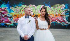 Melbourne Wedding Photography with graffiti  https://www.weddingsnapper.com.au/loz-nath-mountain-goat-brewery-wedding/  #weddingphotography #graffiti #weddingphotographersmelbourne