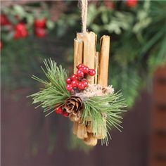 Christmas | Cinnamon Stick Ornament - JKM Ribbon