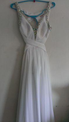 White La Femme Prom Gown Sz.4