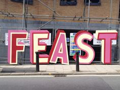 West Norwood Feast signage - Really Great!