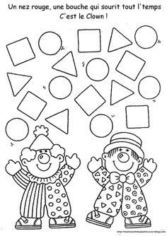 Hottest Totally Free preschool crafts shapes Thoughts This page features SO MANY Kids crafts which have been suitable for Toddler plus Little ones. I believed it was time p Preschool Circus, Circus Crafts, Carnival Crafts, Preschool Worksheets, Kindergarten Activities, Preschool Activities, Preschool Shapes, Free Preschool, Clowns