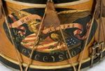 Painting on antique American drum.