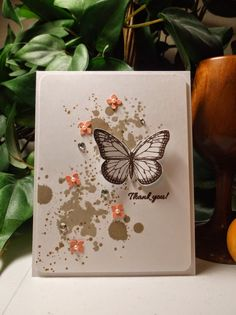 Rachel's Card Corner - Gorgeous Grunge, Best of Butterflies, Sahara Sand, Crumb Cake, Baked Brown Sugar, Chocolate Chip thank you card