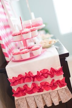 Hot Pink Chevron and Ombre Bridal Shower