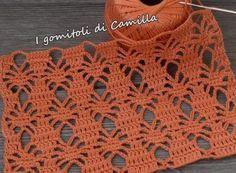 Crochet openwork stitch with small diamonds, Filet Crochet, Crochet Doily Rug, Crochet Afgans, Crochet Motifs, Crochet Stitches Patterns, Crochet Blouse, Crochet Gifts, Crochet Shawl, Stitch Patterns