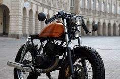 yamaha rx135 modified to cafe racer