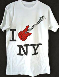 I Rock NY Bass Guitar- 100% US Made T