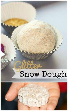 How to make Glitter snow dough playdough