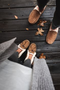 His + her slippers and cozy loungewear