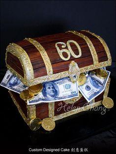 Money Themed ⚜ Treasure Chest Cake
