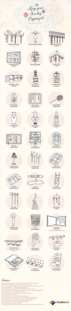 Jewelry organization ideas from axentric.com/