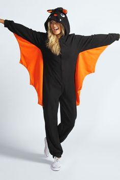 betty bat winged animal onesie