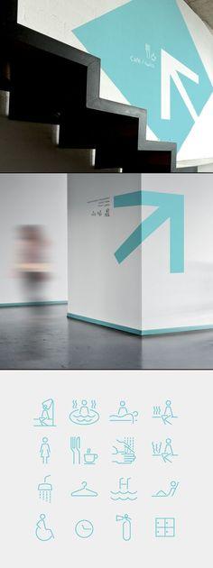Spa Iconography System #wayfinding #icons | SIGNAGE | Environmental