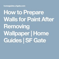 After wallpaper is removed, it is necessary to create a smooth, sealed surface for the paint on the original wall material. Removing Old Wallpaper, Peeling Wallpaper, Wallpaper Paste, Wallpaper Remover, Painting Tips, House Painting, Diy Home Repair, Cleaning Walls, Diy Home Improvement