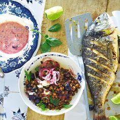 Dorade mit Blaubeer-Linsen-Salat - BRIGITTE