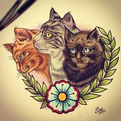 Cat tattoo design. #tattoo #tattoos #ink #inked