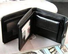 Kožená multifunkčná peňaženka s vizitkárom v čiernej farbe (5)