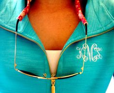 LOVE this monogramed jacket!! I love how the monogram is big enough to notice, but not obnoxiously big.