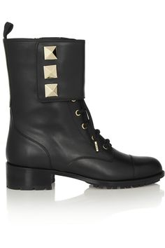 Valentino | Studded leather army boots