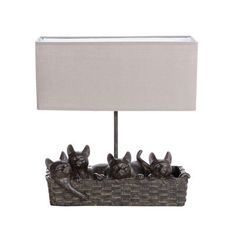 "Creative Co-Op Haven 14.5"" H Table Lamp with Rectangular Shade"