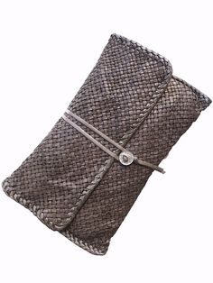 If Bottega Veneta still worked with artisans, this would be the level of perfection - Hand Woven Leather Clutch #OnTrend #Timeless #Exquisite