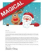 Free Handmade and Pre-made  Personalized Printable Letters from Santa of a Child's Big Accomplishment,  Child's Specific Gift Request  Child Trying Hard to be Good, also  Santa Says Thanks for the Letter,  Christmas on Vacation,  a Child Worried About No Chimney,  Santa Says Thanks for the Snacks,  Baby's First Christmas,  Child Worried Santa Won't Find Them,  Child Missing Military Loved One,  Parents Apart at Christmas.