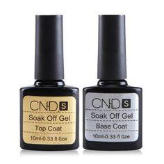 CND Base Coat and Top Coat UV Soak Off Gel Polish 10ML Long lasting Nail Gel  #CND
