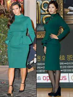 KIM VS. OH | Tom Ford Dress,Kim Kardashian, Oh Ji-Eun