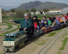 Adobe Mountain Railroad Park - Ride on a reconstructed miniature train at the Adobe Mountain Railroad Park. The free ride goes along several routes on 8 miles of track.