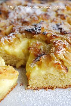 The goodies gem: Soft Cake with Cinnamon and Apples Fruit Recipes, Apple Recipes, Wine Recipes, Sweet Recipes, Dessert Recipes, Sweets Cake, Cupcake Cakes, Tortillas Veganas, Torte Cake