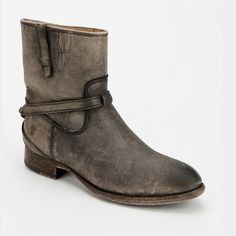 Like new frye boots Lindsay plate. Antiqued look. Grayish and tan color. Worn once. Size 7B Frye Shoes Ankle Boots & Booties