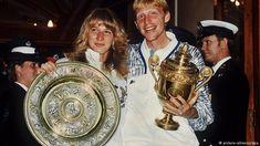 Steffi Graf and Becker after both winning Wimbledon in 1989