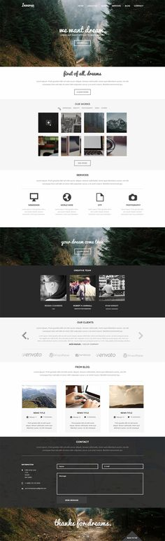 Inverse is a minimalistic and elegant PSD template. It could be used for different type of sites, such as portfolio, creative agency, landing page and all kind of business sites. Ui Web, Responsive Web Design, Web Portfolio, Portfolio Design, Print Layout, Web Layout, Ux Design, Layout Design, Great Website Design