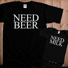 Matching father son shirts Need Beer Need Milk door teesandmoretees