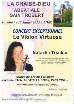 Concert dans l'abbatiale Saint-Robert - 12 juillet 2015 - La Chaise-Dieu